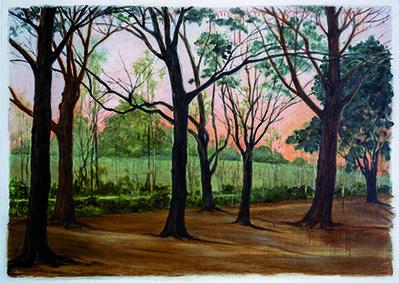 Marguerite Robichaux, 'Sunset on the Levee'
