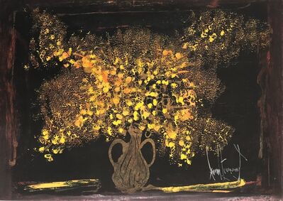 Gérard Economos, 'Yellow Flowers With Black Background', 2011