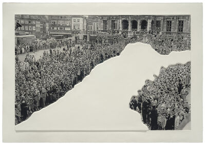 John Baldessari, 'Crowds with Shape of Reason Missing: Example 1', 2012