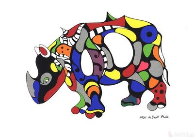 Niki de Saint Phalle, 'Rhinoceros', (Date unknown)