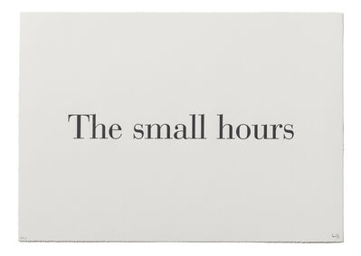 """Louise Bourgeois, '""""The Small Hours"""" from """"What is the Shape of this Problem?""""', 1999"""