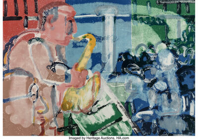 Romare Bearden, 'Bopping at Birdland (Stomp Time), from the Jazz Series', 1979