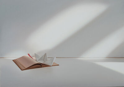 Edite Grinberga, 'Buch mit Papierschiffchen', 2015