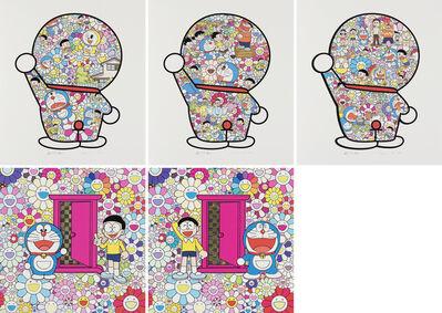 Takashi Murakami, 'We Came to the Field of Flowers through Anywhere Door; Anywhere Door ( Doraemon Door) in the Field of Flowers etc', 2019