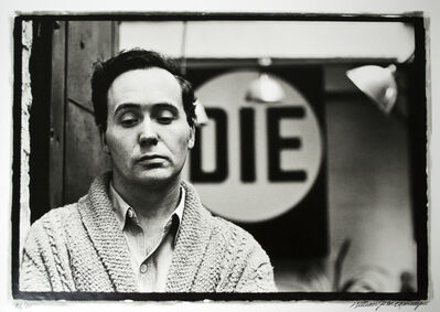 William John Kennedy, 'Robert Indiana with his DIE in the background ', 1963