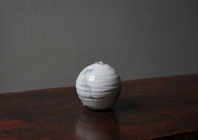 Shiro Tsujimura, '粉引丸 S, Round Jar S (Kohiki-Style) 18015', 2017