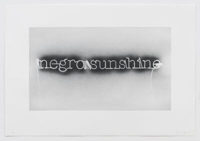 Glenn Ligon, 'Warm Broad Glow (Reversed)', 2008