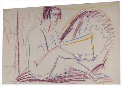 Ernst Ludwig Kirchner, 'Sitzender Akt auf Divan', ca. 1924