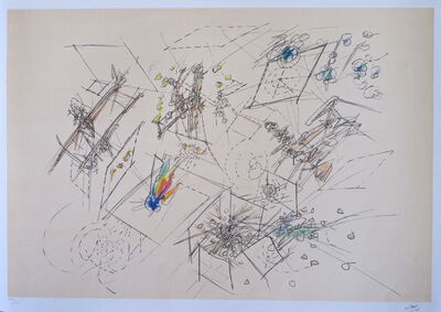 Roberto Matta, 'Five lithographies - plate 1', 1977