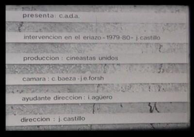Juan Castillo, 'Intervención en el eriazo ', 1970-1980