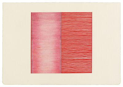 Jessica Deane Rosner, 'Ruled Unruled Red Stripes', 2017