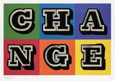 Ben Eine, 'Change (Colour)', 2011