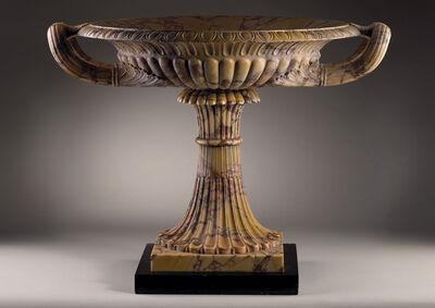 Benedetto Boschetti, 'An Exceptional Giallo Antico Marble Tazza,  set on a Belgian black marble base'