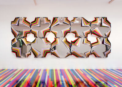 Jim Lambie, 'Metal Box (Underground Orchid)', 2015