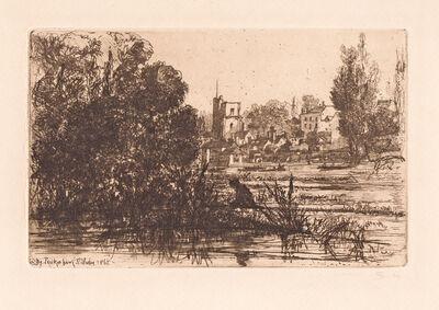 Francis Seymour Haden, 'Twickenham Church', 1862