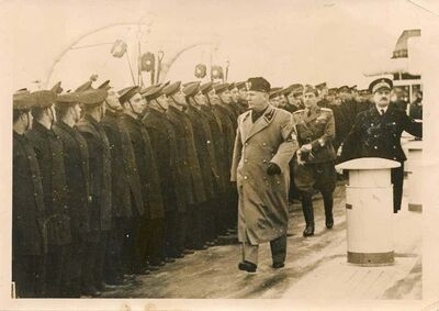 Unknown, 'Mussolini Visits the Sailors', 1937