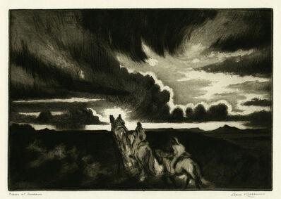 Gene Kloss, 'Riders at Sundown', 1953