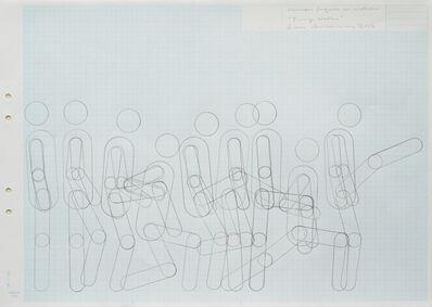 "Lars Arrhenius, 'Human figure in motion (""Funny Walks"")', 2012"