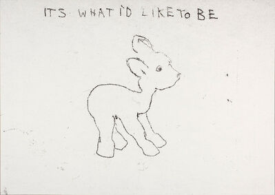Tracey Emin, 'It's What I'd Like to Be', 1998