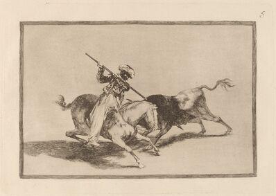 Francisco de Goya, 'El animoso moro Gazul es el primero que lanceo toros en regla (The Spirited Moor Gazul is the First to Spear Bulls According to Rules)', in or before 1816
