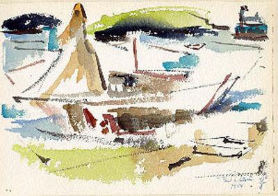 Ted Davis, 'Sailboats, Monhegan Island, Maine', 1954