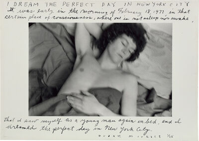 Duane Michals, 'I Dream the Perfect Day in New York City', 1977