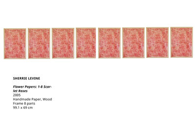 Sherrie Levine, 'Flower Papers: 1-8 Scarlet Roses', 2005