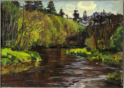 German Alexeevich Tatarinov, 'Spring Riverbank #68', ca. 1980