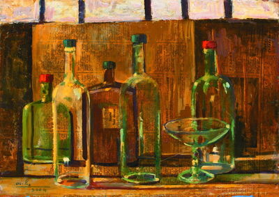 Otar Chkhartishvili, 'Still-Life with Bottles', 2004
