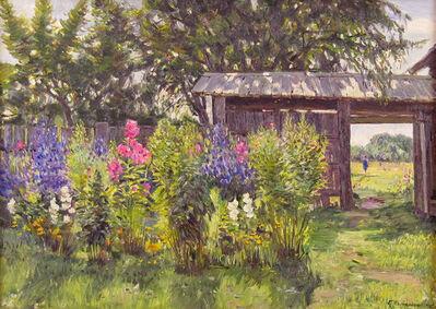 German Alexeevich Tatarinov, 'The Garden in Summer', ca. 1980
