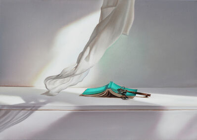 Edite Grinberga, 'Grünes Buch mit Wind III', 2016