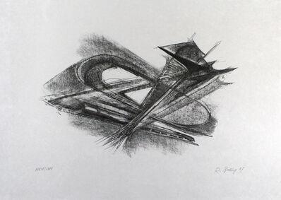 Rudolf Belling, 'Entwurf Für Metallplatten Und Draht I', 1967