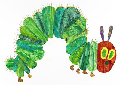 """Eric Carle, 'Illustration from """"The Very Hungry Caterpillar""""', 1969 and 1987"""