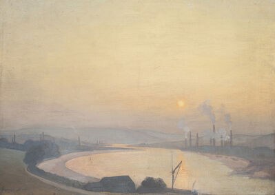 George Frederick Henry Bell, '(Factories at Sunset)', 1912