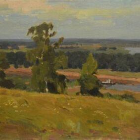 Valery Borisovich Skuridin, 'Oká riverside', 1980
