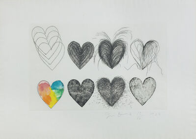 Jim Dine, 'Eleven Hearts', 1969