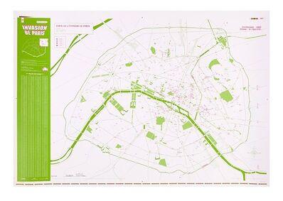 Invader, 'Invasion de paris, map', 2011