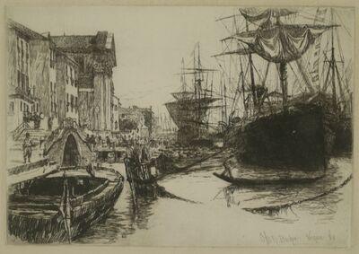 Otto Henry Bacher, 'Zattere, Venice', 1880