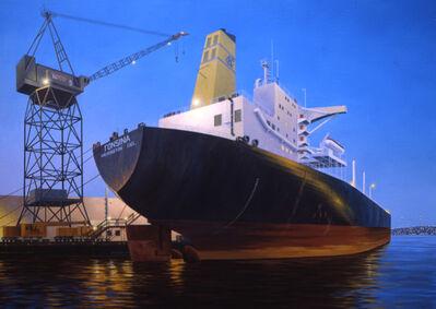 Simon Harling, 'Dusk at Todd's Shipyard'