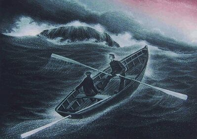 David Blackwood, 'Gull Rock Breaking', 2001