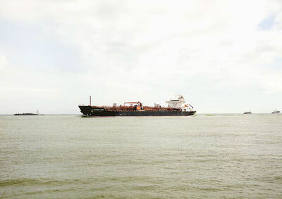 Victoria Sambunaris, 'Untitled (Oil/Chemical Tanker, Chemroad Hope, Caymen Is.), Houston Ship Channel, Texas VS-16-100D', 2016