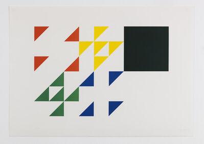 Fausta Squatriti, 'Scomposizione di un quadrato e sua ricomposizione cromatica', 1980