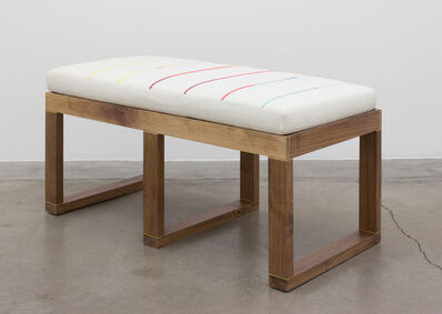 Jordan Nassar, 'Brass Inlay Bench With Embroidered Cushion', 2020