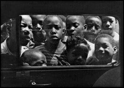 Gordon Parks, 'Boys looking in a car window, Harlem, New York, August 1943', 1943