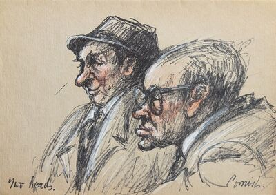 Norman Cornish, 'Two heads', ca. 1970
