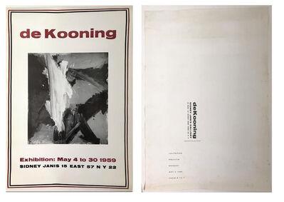 """Willem de Kooning, '""""de Kooning"""", Exhibition Invitation/Mailer/Poster, Sidney Janis Gallery NYC', 1959"""