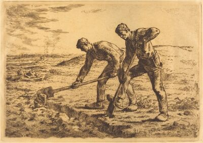 Jean-François Millet, 'The Diggers (Les becheurs)'