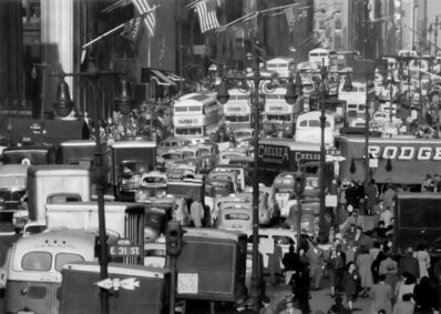 Andreas Feininger, 'Traffic on 5th Avenue, New York City', 1948