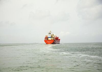 Victoria Sambunaris, 'Untitled (LPG Tanker, Navigator Europa, Liberia), Houston Ship Channel, Texas', 2015