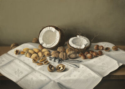 Frank Harrison Miller, 'Tabletop with Coconut and Nuts', Date Unknown